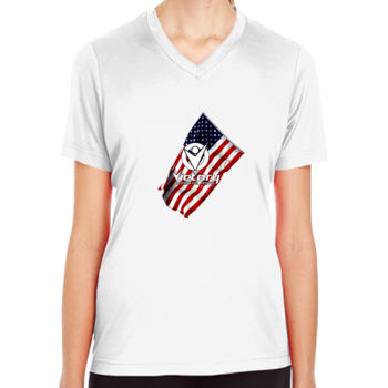 Ladies Victory Wavy Flag T-shirt Thumbnail