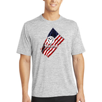 Mens Victory Wavy Flag T-shirt (White in Design will NOT print) Thumbnail